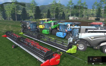 Farming Simulator 15 - Cat Lexion 1090 HDR Dyeable 8 Pack v1.4